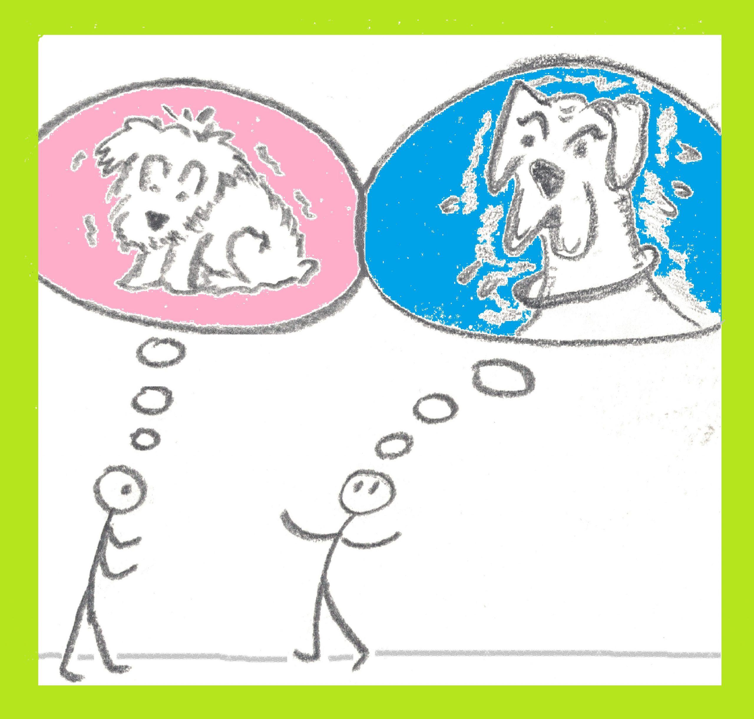 """Denn wie für den einen """"Hund"""" ganz selbstverständlich eine Dogge ist, so hat die andere vielleicht einen Scotchterrier vor Augen. Bei der Vorstellung vom Ziel kann das ähnlich sein."""