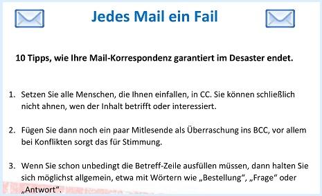 Jedes Mail ein Fail: wie Mail-Korrespondenz nicht funktioniert