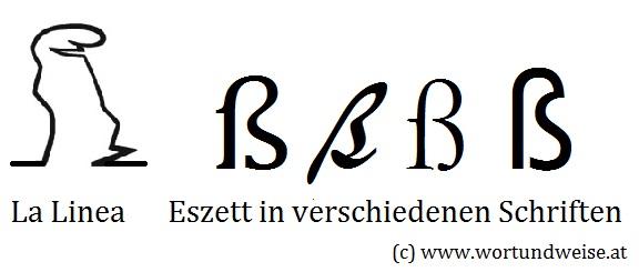 Rechtschreibung: La Linea und die erstaunliche Ähnlichkeit mit dem Eszett oder scharfen S.